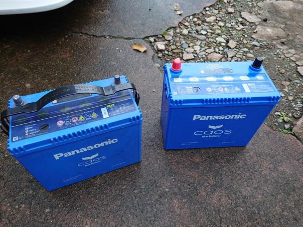 AE86バッテリー交換 Panasonic カオス