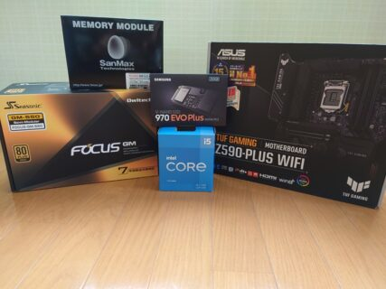 Corei5 11400とASUS TUF GAMING Z590-PLUS WIFIで新規構成